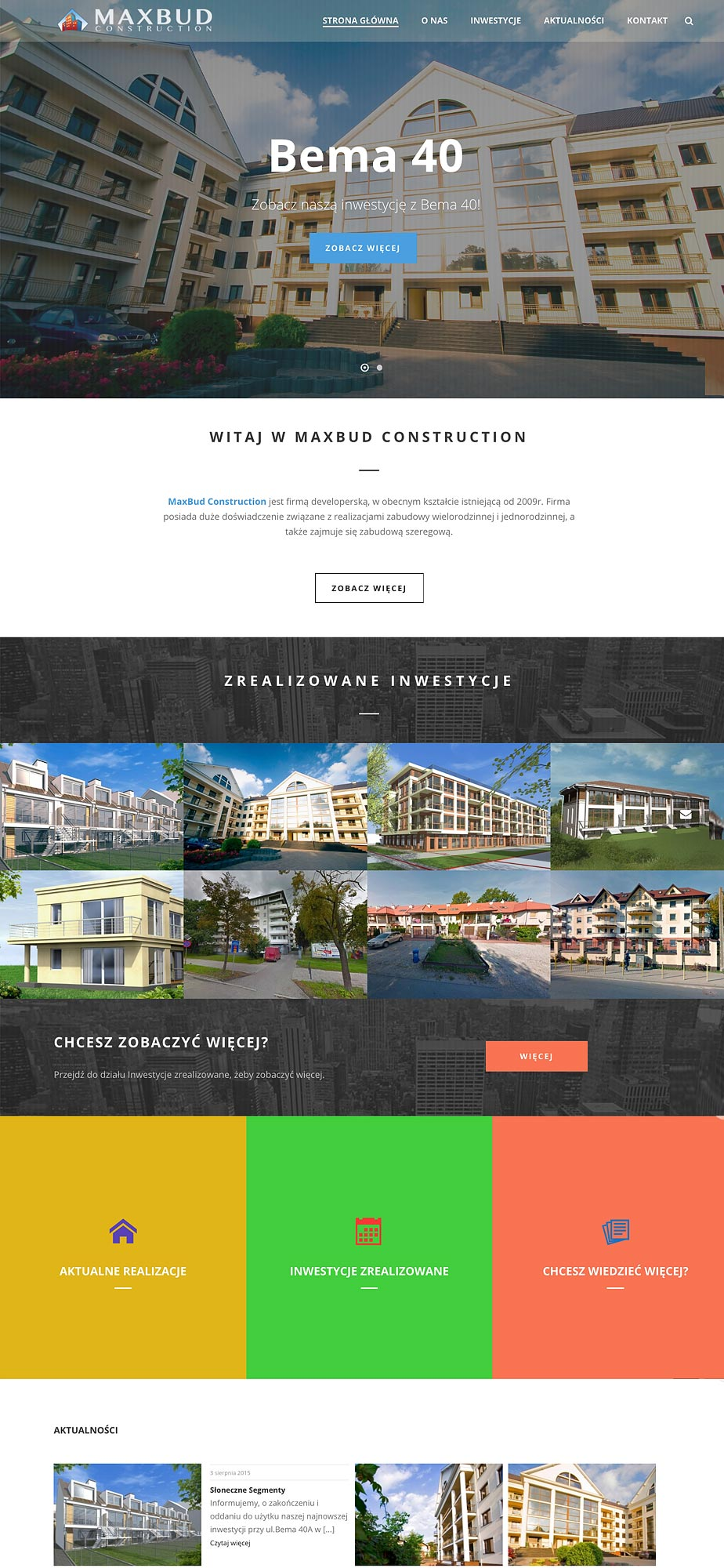 Maxbud Construction - Webpage Design