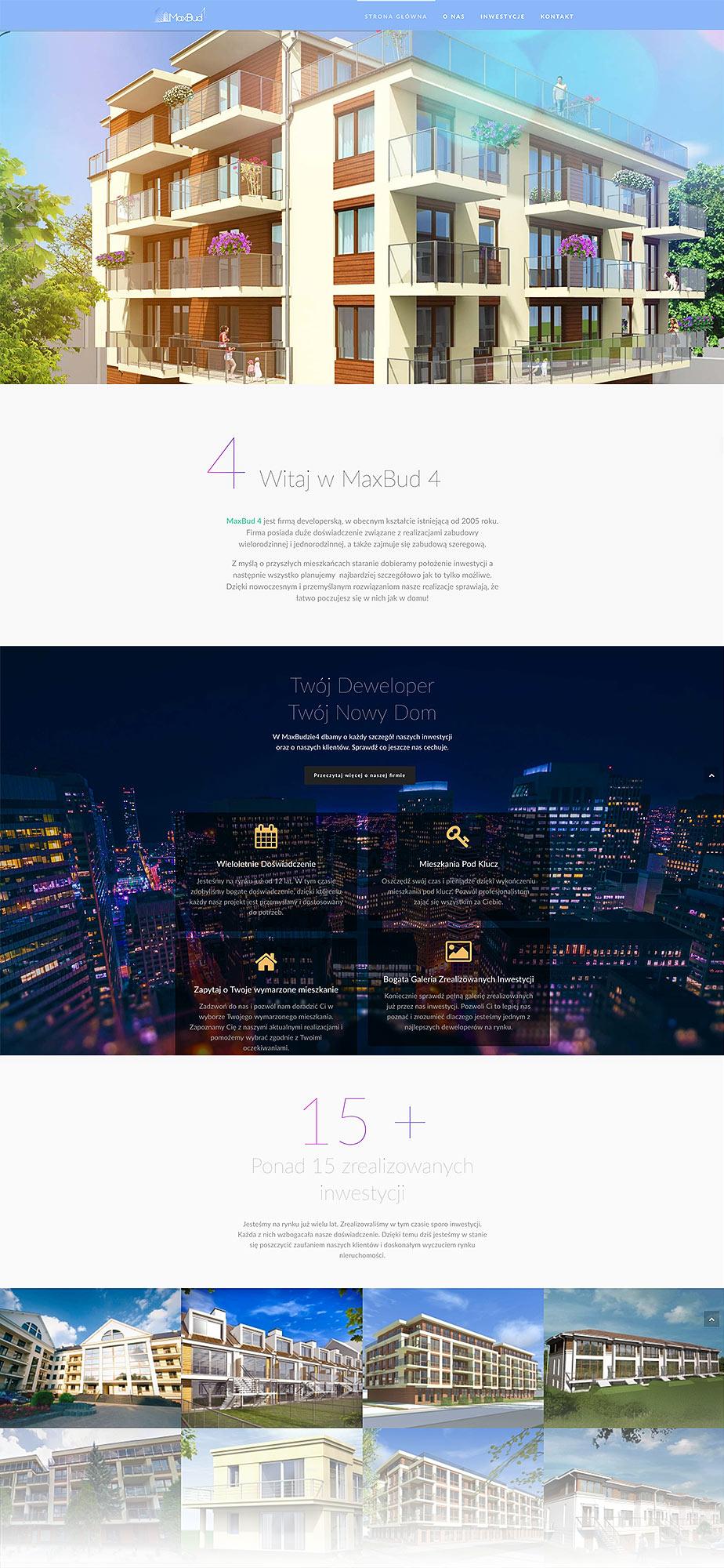 Projekt strony www - MaxBud 4