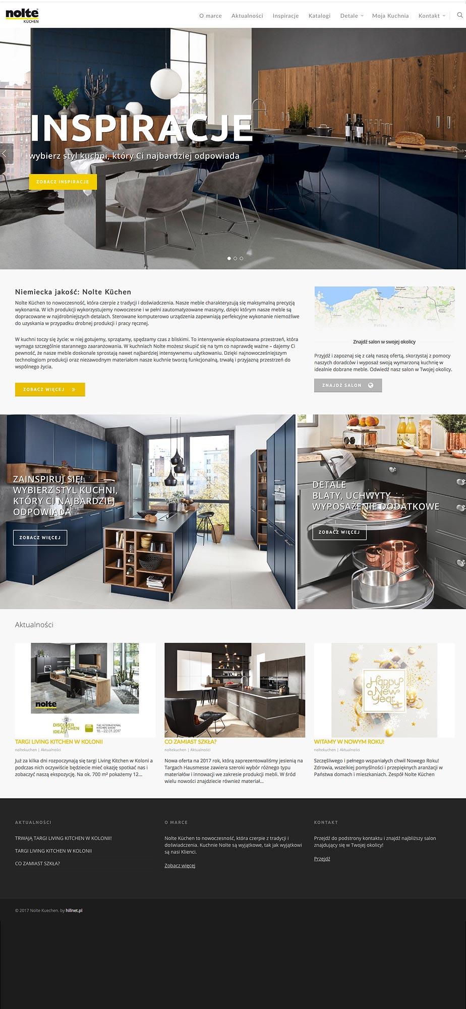 Nolte Kuechen realizacja webpage
