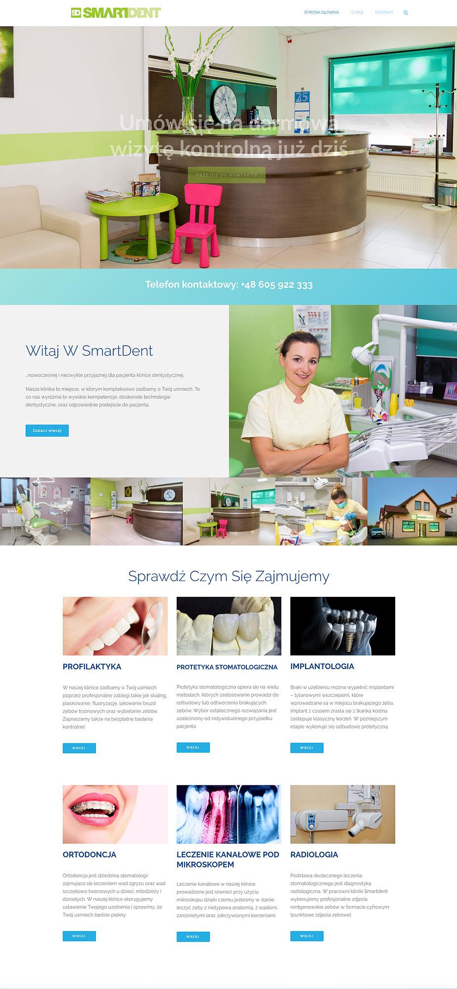 Smartdent - projekt strony internetowej